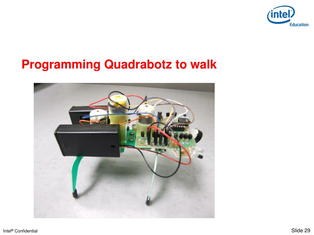 Programming Quadrabotz to walk