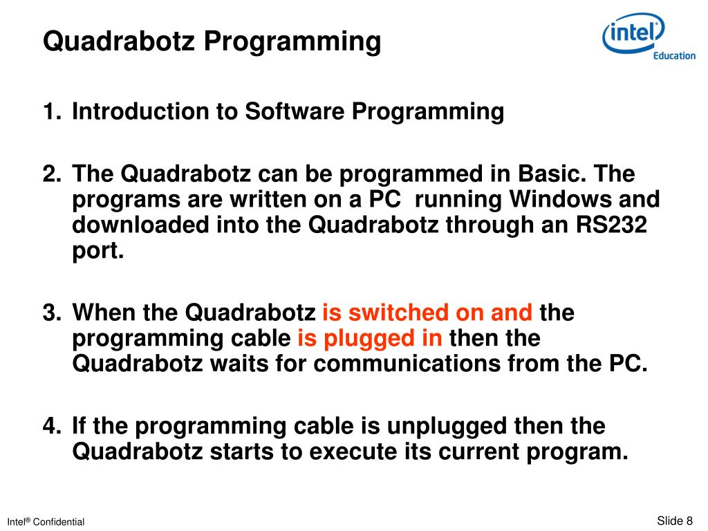 Quadrabotz Programming