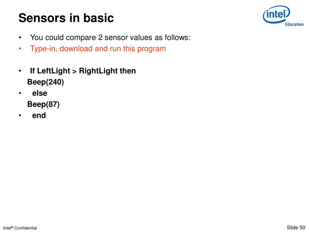 You could compare 2 sensor values as follows: