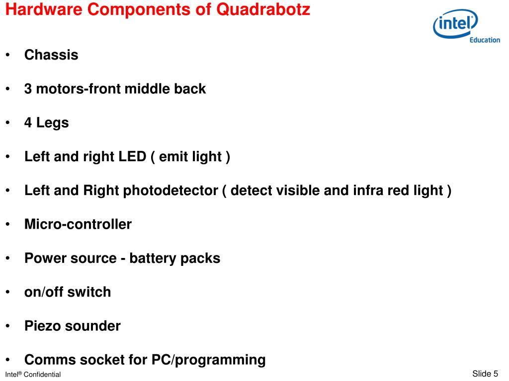 Hardware Components of Quadrabotz