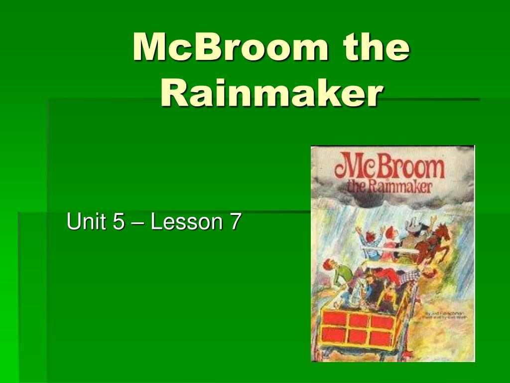mcbroom the rainmaker l.