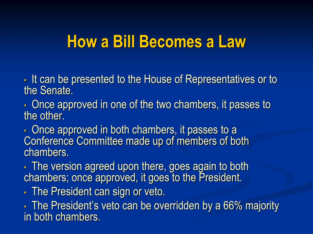 how a bill becomes a law l.