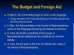 the budget and foreign aid4