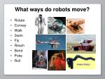 what ways do robots move