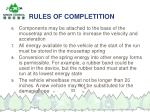 rules of completition33
