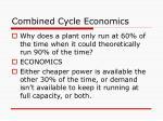 combined cycle economics