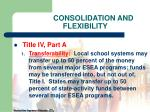 consolidation and flexibility