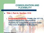 consolidation and flexibility53