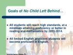 goals of no child left behind