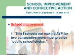 school improvement and corrective action title i part a sections 1111 and 1116