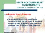 state accountability requirements title i part a sections 1111 and 1116