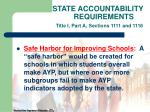 state accountability requirements title i part a sections 1111 and 111624