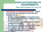 state accountability requirements title i part a sections 1111 and 111625
