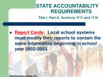 state accountability requirements title i part a sections 1111 and 111628