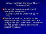 critical humanism and queer theory plummer 200821