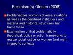 feminism s olesen 2008