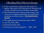 4 bonding pairs electron groups