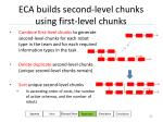 eca builds second level chunks using first level chunks