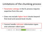 limitations of the chunking process86