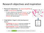research objectives and inspiration
