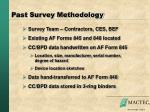 past survey methodology