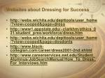 websites about dressing for success