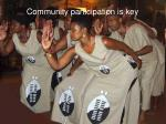community participation is key