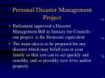 personal disaster management project