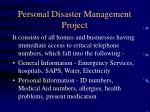 personal disaster management project11