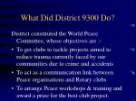 what did district 9300 do