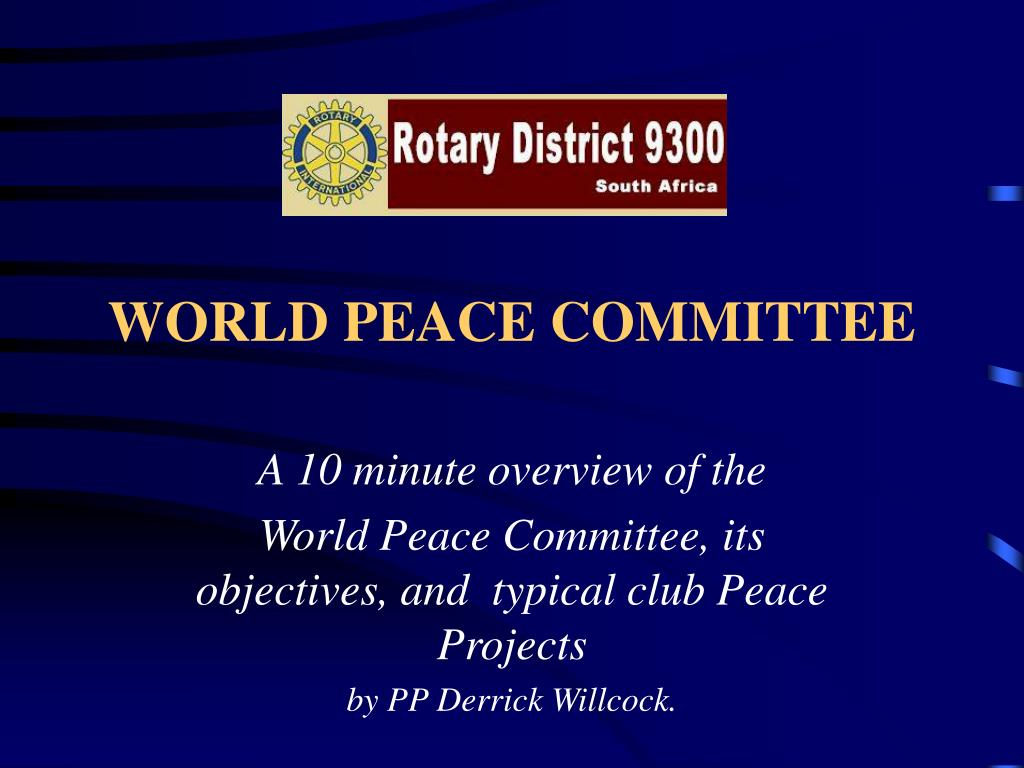 world peace committee l.