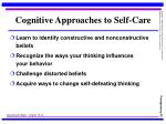 cognitive approaches to self care