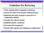 guidelines for bartering