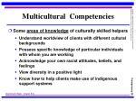 multicultural competencies26