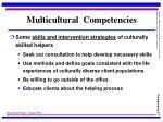 multicultural competencies27