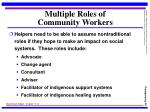 multiple roles of community workers