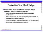 portrait of the ideal helper