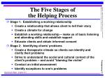 the five stages of the helping process