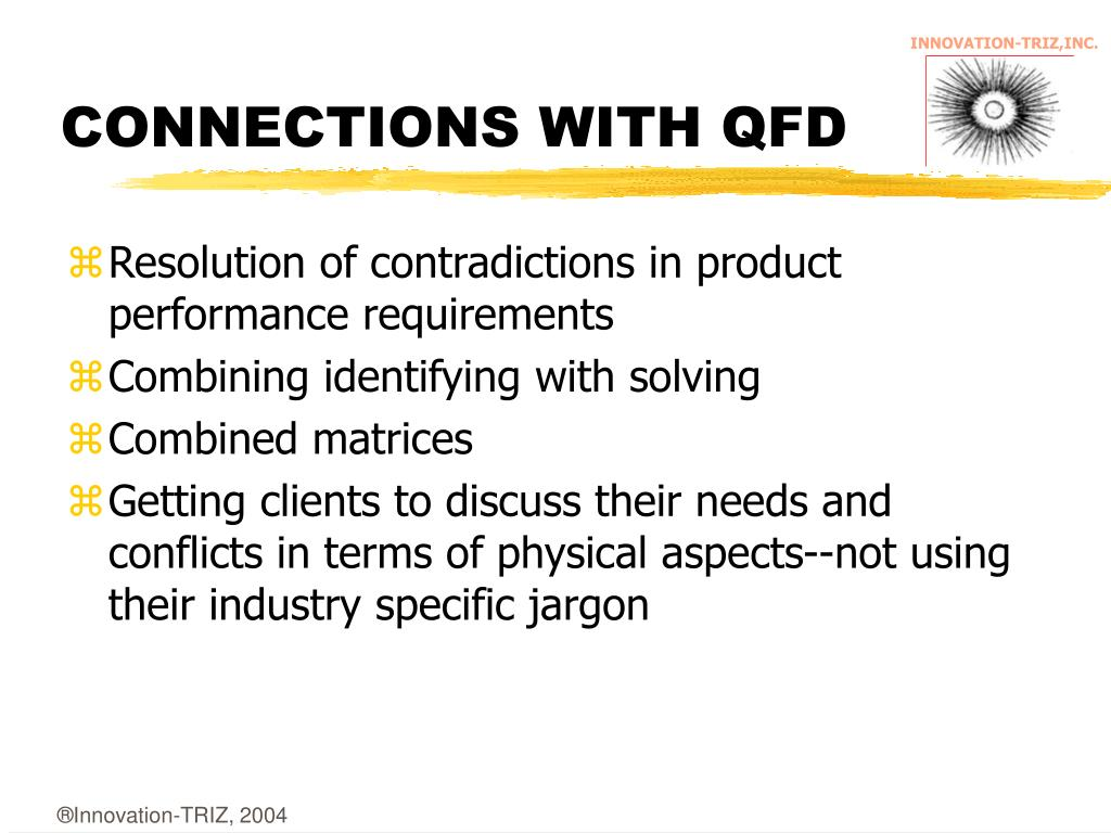 CONNECTIONS WITH QFD
