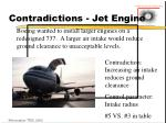 contradictions jet engine