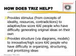 how does triz help
