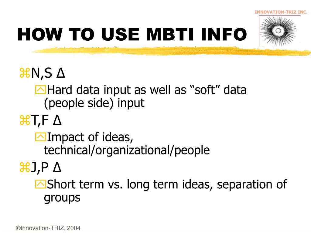 HOW TO USE MBTI INFO