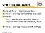 qfd triz indicators