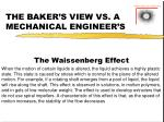the baker s view vs a mechanical engineer s