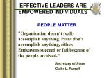 effective leaders are empowered individuals17