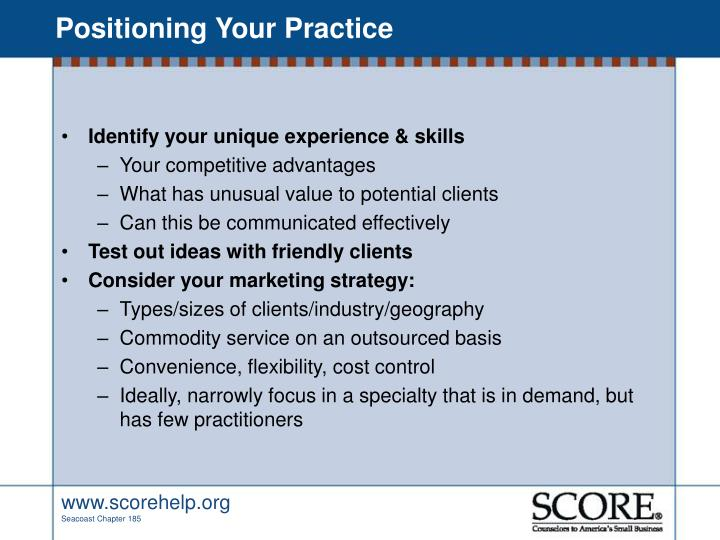 Positioning Your Practice