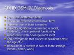 adhd dsm iv diagnosis