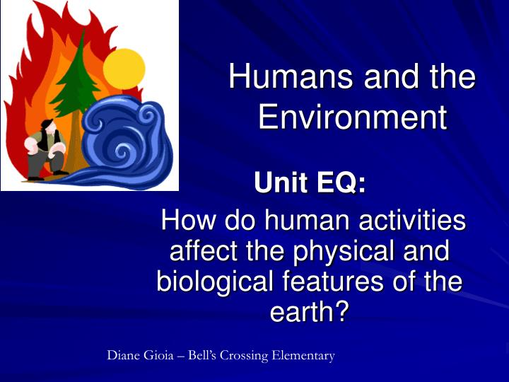 humans and the environment n.