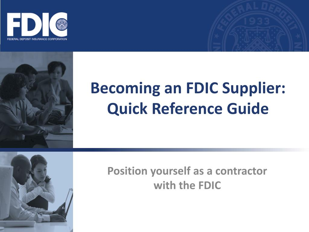 becoming an fdic supplier quick reference guide l.
