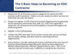 the 5 basic steps to becoming an fdic contractor
